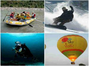 Different Adventure Sports Different Parts India
