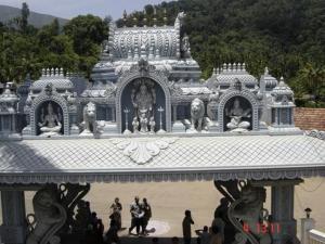 Golden Statue Karnataka Temple