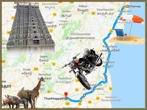 Chennai Trichy Shortest Route Bike Riders