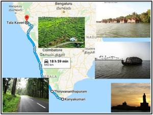 Kanyakumari Tala Kaveri Shortest Route For Riders