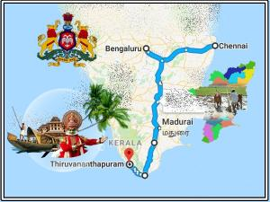 A Trip From Chennai Thiruvananthapuram Via Bangalore