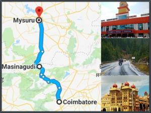 Coimbatore Mysore Via Masinagudi Shortest Route Bike Rid