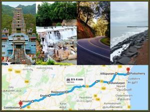 Coimbatore Pondicherry Shortest Best Route Bike Riders