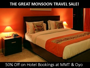 The Great Monsoon Travel Sale 50 Off On Hotel Bookings At