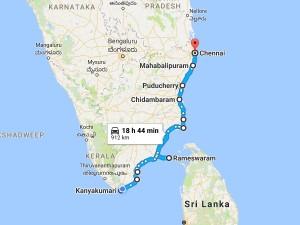 Long Ride Through Tamilnadu Coastal Roads Kanyakumari Chenna