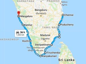 A Different Route From Chennai Mangalore Beach Trip