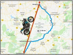 Coimbatore Bangalore Shortest Route For Bike Riders
