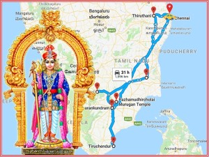 Let S Go The Six Temples Lord Muruga A Single Trip
