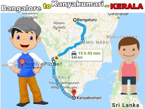 Let S Try This Travel Route From Bangalore Kanyakumari