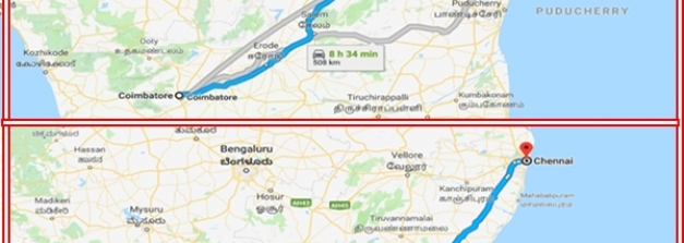 கோயம்புத்தூர் - சென்னை : இந்த ரூட்ட ஃபாலோ பண்ணுனா 8 மணிநேரத்துல சென்னை போயிடலாம்...!
